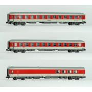 Set de 3 voitures DB train de nuit époque VI