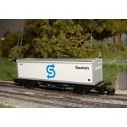 Wagon plat DB container Seatrain