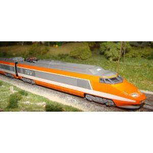 TGV Sud-Est SNCF orange 10 éléments
