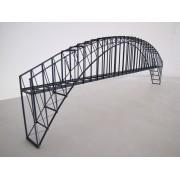 Pont cage métallique suspendu voie unique