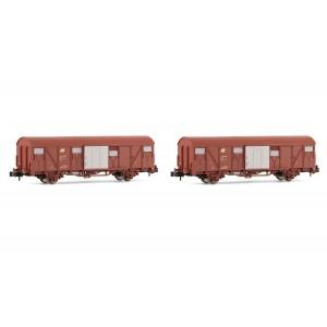 Coffret de 2 wagons couverts Gbs FS