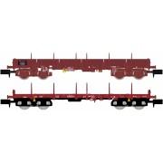 Set de 2 wagons plats SNCF et ERMEWA