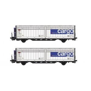 Set  of 2 SBB Hbbills-uy cooled wagons Cargo