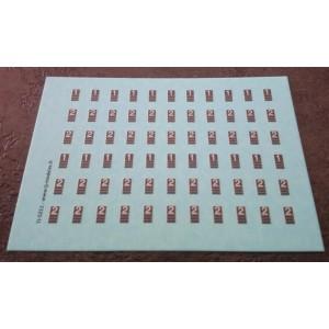 Planche de cartouches Corail