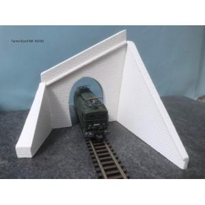 Portail de tunnel Escot avec 2 murs décorés