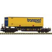 Wagon-poche Sdgmns 33 AAE + remorque Transped