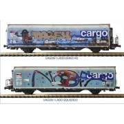 Set de 2 wagons Hbbills SBB Cargo tagués