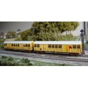 Set de 2 wagons Gakkss 14-6 SNCF patinés