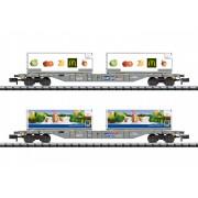 Set de 2 wagons plast SBB avec containers réfrigérés