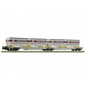 Wagon double T2000 AAE caisses TERRATRANS