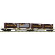 Wagon double T2000 AAE citernes Bertschi