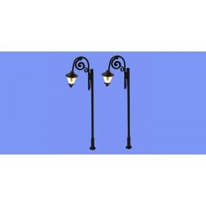 Jeu de 2 lampadaires anciens