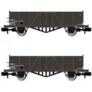 Set de 2 wagons tombereaux bords hauts Tw SNCF