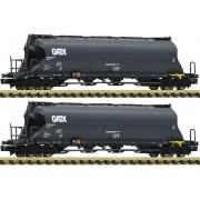 Coffret de 2 wagons silos Uacs-x GATX