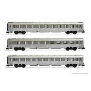 Set de 3 voitures DEV inox longues SNCF époque III