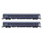 Set de 2 voitures lits T2 SNCF époque V