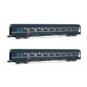 Set de 2 voitures lits T2 SNCF époque VI