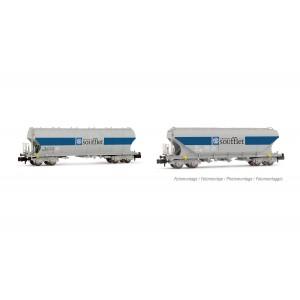 Set de wagons céréaliers SNCF Soufflet époque V/VI