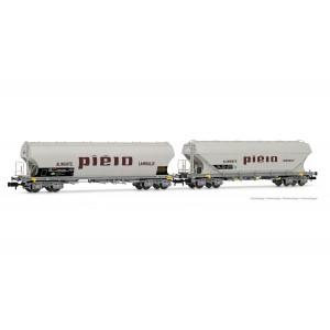 Set de 2 wagons céréaliers SNCF Piéto époque IV