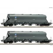 Set de 2 wagons silos Uacs-x DB KKG