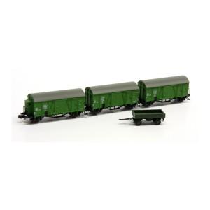 Set de 3 wagons Oppeln SNCB avec remorque