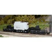 Wagon plat pour charge lourde DB avec transformateur