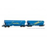 Coffret de 2 wagons céréaliers FS MONFER