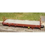 Chargement de ballast pour wagon plat K50