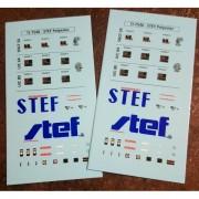 Plnaches de décals pour réfrigérant UIC STEF