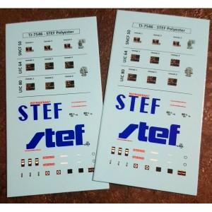 Planches de décals pour réfrigérant UIC STEF