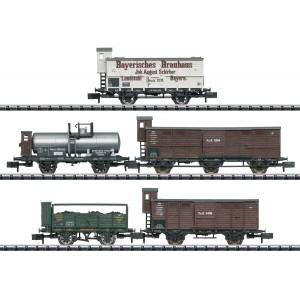 Set de 5 wagons différents époque I