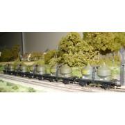 Rame de 5 wagons silos SNCF CET