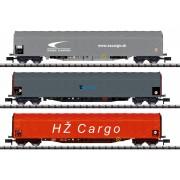 Set de 3 wagons Rils ZSSK Cargo, CD Cargo et HZ Cargo
